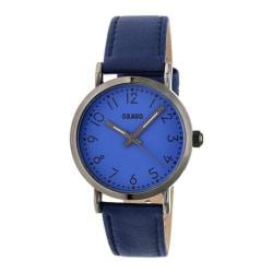 Men's Crayo Pride Quartz Watch Navy Leather/Navy