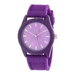 Men's Crayo Storm Quartz Watch Purple Silicone/Purple
