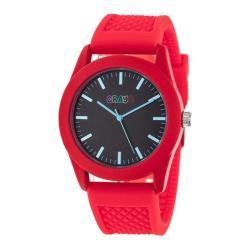 Men's Crayo Storm Quartz Watch Red Silicone/Black