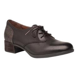 Women's Dansko Louise Heeled Oxford Black Antiqued Calf