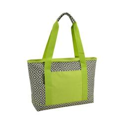 Picnic at Ascot Large Insulated Tote Diamond Granite Grey/Green