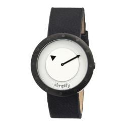 Men's Simplify The 2200 Quartz Watch Black Leather/White