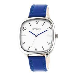 Men's Simplify The 3500 Quartz Watch Blue Leather/Silver