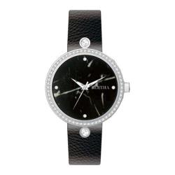 Women's Bertha Frances BR6401 Watch Black Leather/Black