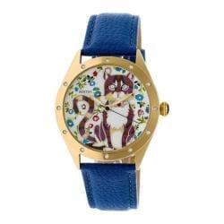 Women's Bertha Selina BR6105 Watch Blue Leather/Multicolored