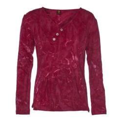 Women's Ojai Clothing Kangaroo Henley Shirt Earthy Red
