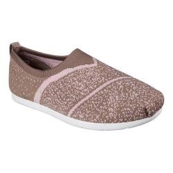 Women's Skechers BOBS Plush Lite Sox Hop Slip-On Taupe/Pink
