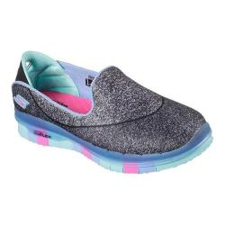 Girls' Skechers GO FLEX Walk Slip On Black/Multi