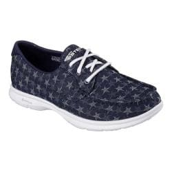 Women's Skechers GO STEP Liberty Boat Shoe Denim
