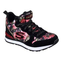 Girls' Skechers Retrospect Hollywood Rose High Top Black/Red