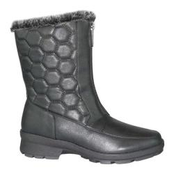 Women's Toe Warmers Kelly Winter Boot Black Polyurethane