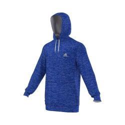 Men's adidas Team Issue Fleece Pullover Hoodie Bold Blue Heather