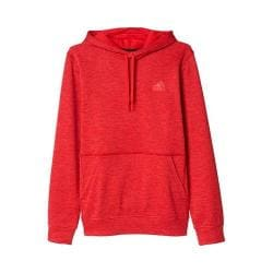 Men's adidas Team Issue Fleece Pullover Hoodie Ray Red Heather