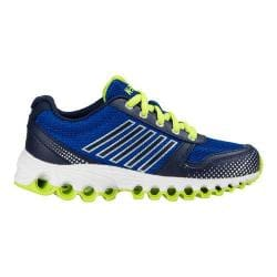 Boys' K-Swiss X-160 Sneaker - Big Kid Classic Blue/Navy/Lime Green