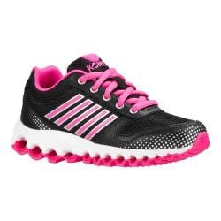 Girls' K-Swiss X-160 Sneaker - Little Kid Black/Black/Neon Pink
