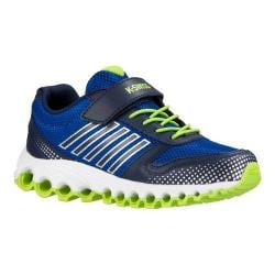 Boys' K-Swiss X-160 VLC Sneaker - Little Kid Classic Blue/Navy/Lime Green