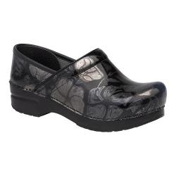 Women's Dansko Professional Clog Pewter Floral Patent