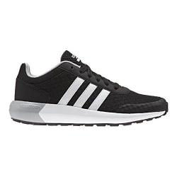 Boys' adidas NEO Cloudfoam Race Sneaker Core Black/White/Clear Onix
