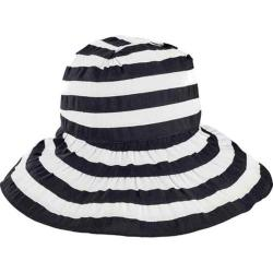 Women's San Diego Hat Company Crossback Striped Ribbon Bucket Hat RBL4792 Black/White
