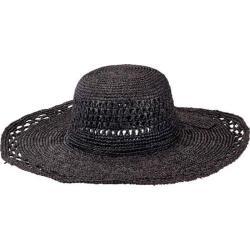 Women's San Diego Hat Company Raffia Round Crown Large Sun Brim Hat RHL3085 Black