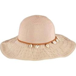 Women's San Diego Hat Company Ribbon Sun Hat with Shell Trim RBL4786 Natural