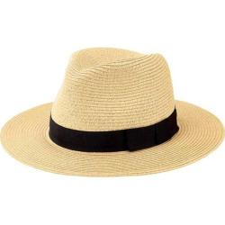 Men's San Diego Hat Company Ultrabraid Fedora with Bow UBF1016 Natural