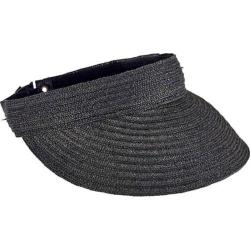 Women's San Diego Hat Company Ultrabraid Visor with Tie Back UBV013 Black