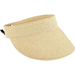 Women's San Diego Hat Company Ultrabraid Visor with Tie Back UBV013 Natural