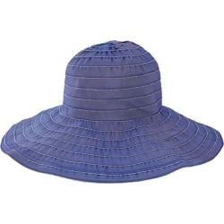 Women's San Diego Hat Company Wide Ribbon Wired Sun Brim Hat RBL4793 Blue