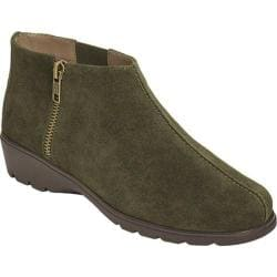 Women's Aerosoles Sonic Ankle Bootie Dark Green Suede