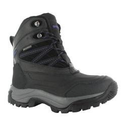 Women's Hi-Tec Snow Peak 200 Waterproof Boot Black/Purple
