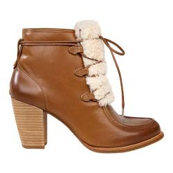 Women's UGG Analise Exposed Fur Bootie Chestnut/Natural