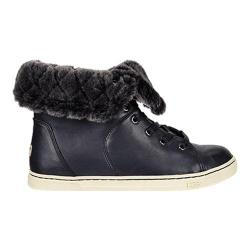 Women's UGG Croft Luxe Quilt Sneaker Black Leather
