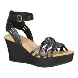 Women's UGG Farrah Ankle Strap Wedge Sandal Black