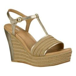 Women's UGG Fitchie Metallic Wedge Sandal Soft Gold