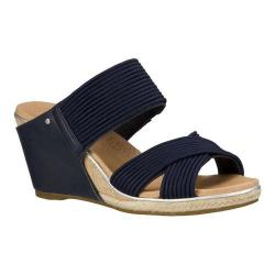 Women's UGG Hilarie Wedge Sandal Racing Stripe Blue