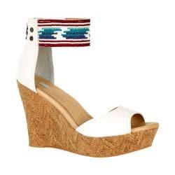 Women's UGG Jacinda Serape Beads Ankle Strap Sandal White Wall
