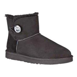 Women's UGG Mini Bailey Button Bling Black