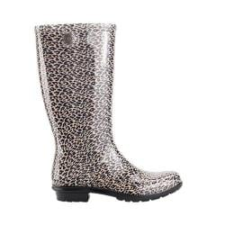 Women's UGG Shaye Leopard Rain Boot Black