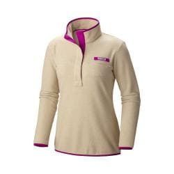 Women's Columbia Harborside Fleece Pullover Fossil Heather/Bright Plum
