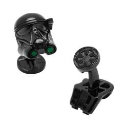 Men's Cufflinks Inc 3D Death Trooper Cufflinks Black 22390937