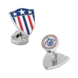 Men's Cufflinks Inc Captain America 75th Limited Edition Cufflinks Multi