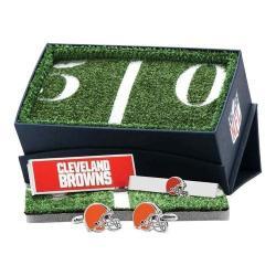 Men's Cufflinks Inc Cleveland Browns 3-Piece Gift Set Orange 22390956