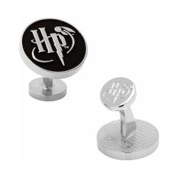 Men's Cufflinks Inc Harry Potter Logo Cufflinks Silver