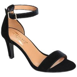 Women's Aerosoles Laminate Ankle Strap Sandal Black Velvet