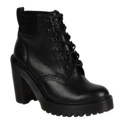 Women's Dr. Martens Persephone Fur Lined 6 Eye Padded Collar Boot Black Stone