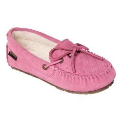 Women's Old Friend Molly Moccasin Slipper Pink Cowhide Suede