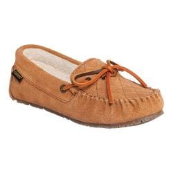 Women's Old Friend Molly Moccasin Slipper Tan Cowhide Suede