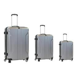 Ful Payload 3 Piece Hardside Spinner Luggage Set Silver