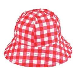 Women's San Diego Hat Company Water Repellant Bucket Hat CTH8055 Red/White
